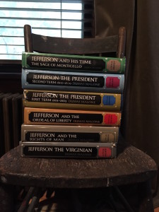 A big stack of Dumas's Jefferson biography